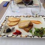 Fois gras aromatisé au pineau des Charentes.