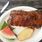 Rack of dry rub ribs... had better at Chili's