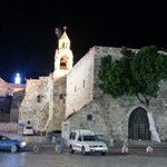 Manger Square at night,  five minutes walk from the Grand Park Hotel