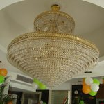 Giant chandelier in the reception hall