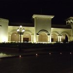 Hotel front at night