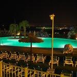 vue piscine nuit