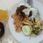 Nasi Udang Empal + Urap