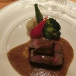 Beef from Hokkaido, with wasabe-based sauce.