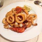 Frittura di calamari e gamberi glutin free