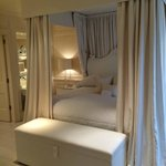 Four-poster kingsized bed