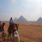 Camel ride through the Giza pyramid complex