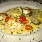 Veal, shrimp, artichoke hearts