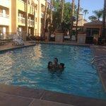 Un bagno in piscina con 41 gradi!!