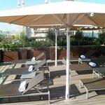 Rooftop sun lounge area