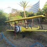 Lietadielko v parku