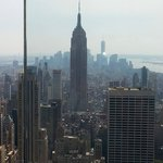 From Top of the Rock at the Rockerfeller ctr.  Empire state view