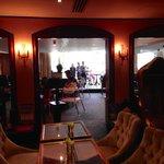 Bar into restaurant