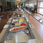 Buffet, $16 adults, $8 kids, free for club members on weekends