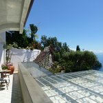 Terrace on Level  -1 at Albergo Conca Azzurra looking east towards Amalfi