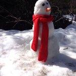 Muñeco de nieve hecho por Martina