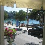 Vista desde la terraza cafeteria del hotel