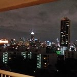 Bangkok skyline in night