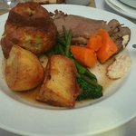 Roast beef with homemade Yorkshire pudding