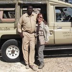Our game drive guide, Ken and me