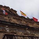 A bandeira espanhola orgulhosa... com toda a razão!
