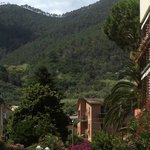 Mountains beyond our Monterosso Hotel Villa Adriana