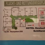 Hotel Deutsche Flagge Foto