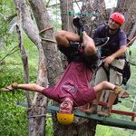 Zipping upside down!