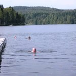 The water was around 20 degree,which is warm for Norway