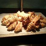 Warm croissants -- YUM!
