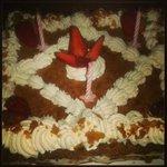 Gâteaux d'anniversaire au restaurant du lac