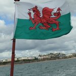 Welsh Flag Tenby in the Background