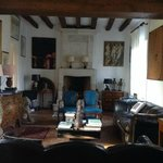 The living room - wonderful paintings & furnishings