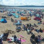 Very busy beach