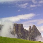Punta Santner baciata dalle nuvole