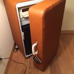 Mister Funky mini-bar/safe disguised as a suitcase!