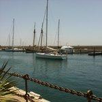 Entrada en el puerto deportivo de Marina Rubicon