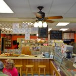 Iside the Quietside Cafe Southwest Harbor Maine