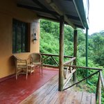 our terrace with a view on Bwindi forest