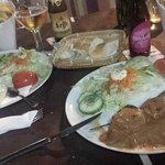 Pincho de cerdo con salsa de cacahuete y Shawarma!