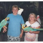 kids enjoyed the parrot show and had their picture taken