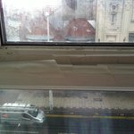 Windows in room 330 were sellotaped shut with masking tape couldn't open at all