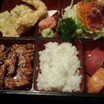 The bento box from Zen was absolutely delicious, colorful and filling. Did I mention it was deli
