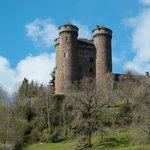 Château d' Anjony, Tournemire: Back on the road to La Roussière
