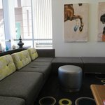 comfy lounge sofas in lobby