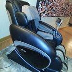 Cadeira de massagem grátis e fantástica!