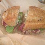 Ahi tuna sandwich - so yummy