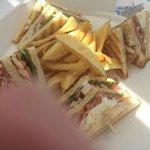 Club sandwich at lunch