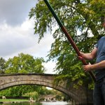 Incredibly brave friend punting!