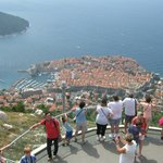 Dubrovnik Old Town from view platform